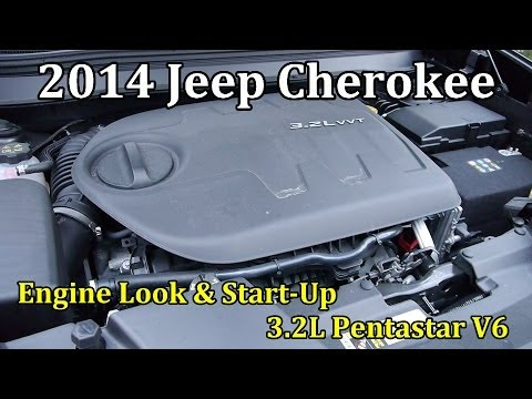 2014 jeep cherokee: engine in-depth look and start-up || 3 2l pentastar v6
