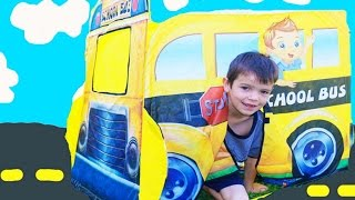 SURPRISE SCHOOL BUS - Surprise TENT Paw Patrol Bubbles + Baby Alive Shopkins Learn Numbers Counting