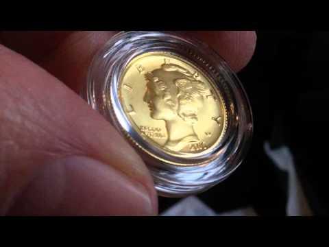 Mercury Dime Centennial Gold Coin Unboxing!!