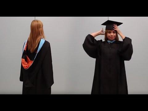 bf80177c2 Cómo ponerse la toga -Graduación Universidad del Turabo - YouTube