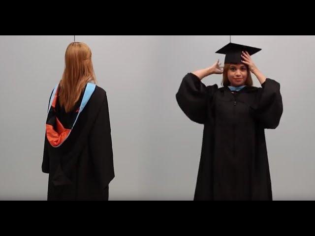 ¿Cómo ponerse la toga?-Graduación Universidad del Turabo