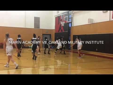 Marin Academy girls basketball team routs Oakland Military Institute #MarinHoops