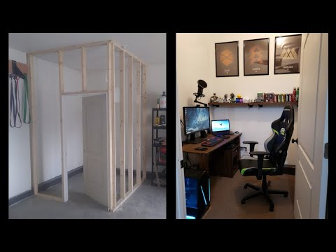 I Built An Office/Stream Room in My Garage! (DIY Project)
