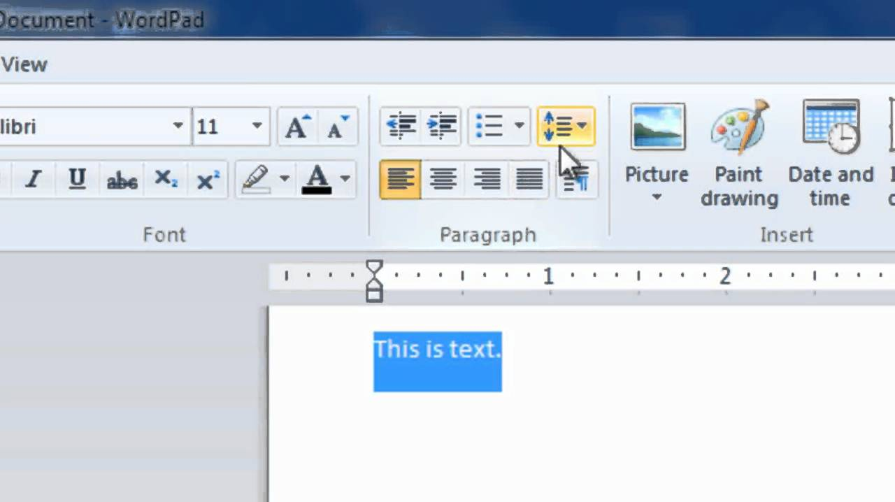 wordpad 2011