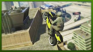 GTA 5 Stunts - CRAZY Bike Jumps! - (GTA 5 Top 5 Stunts)