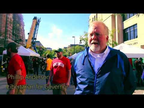 (L) Gubernatorial Candidate Phillip Anderson  at 2017 Harvest Fest