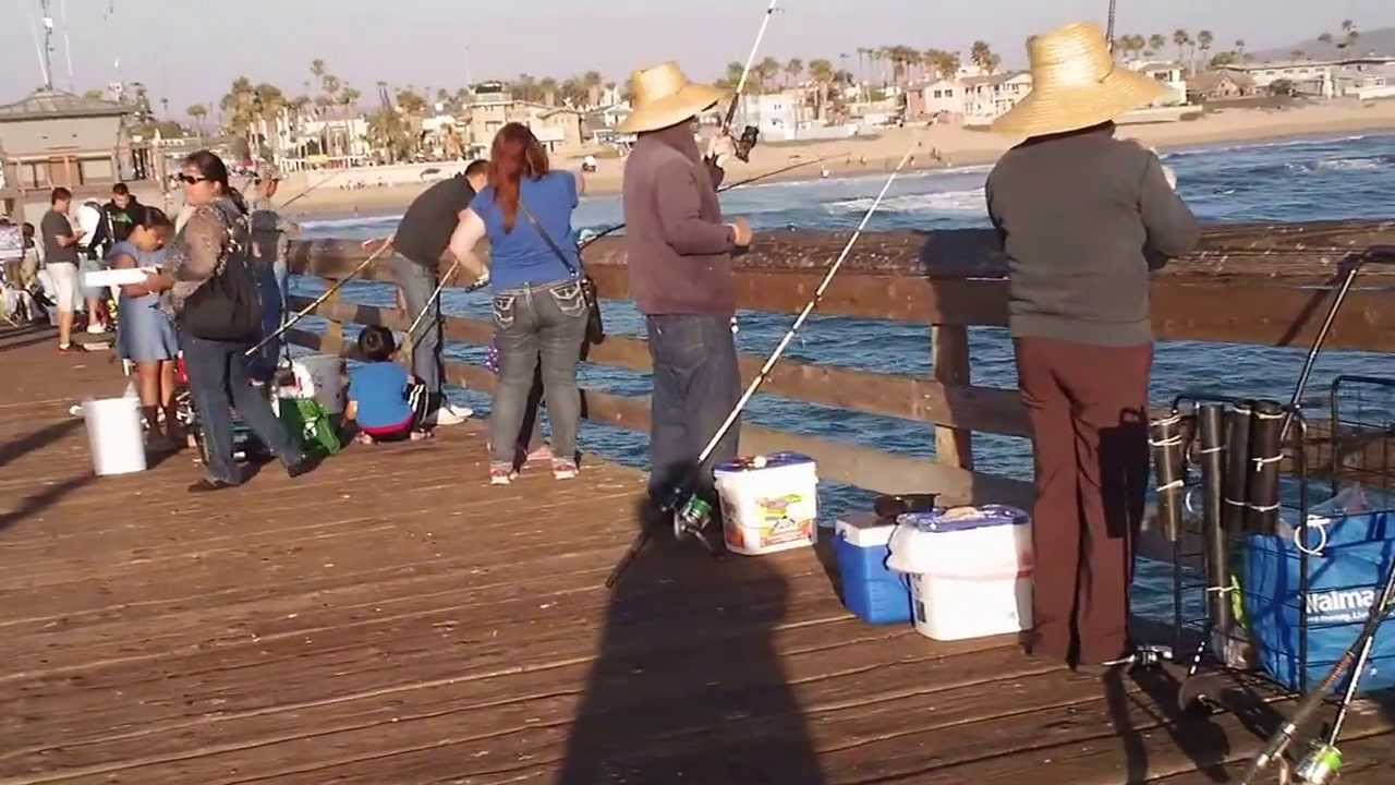 Imperial beach pier fishing san diego ca youtube for Fishing license san diego
