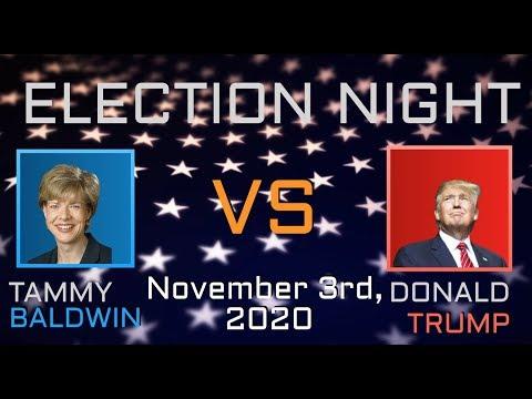 2020 Election Night | Tammy Baldwin vs Donald Trump