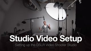 The Studio Part 3: How to Setup a Video Studio(Video showing you how I setup my studio for podcast shooting. Get links to gear mentioned here: http://dslrvideoshooter.com/studio-part-3-setup-video-studio/, 2014-08-05T15:11:24.000Z)