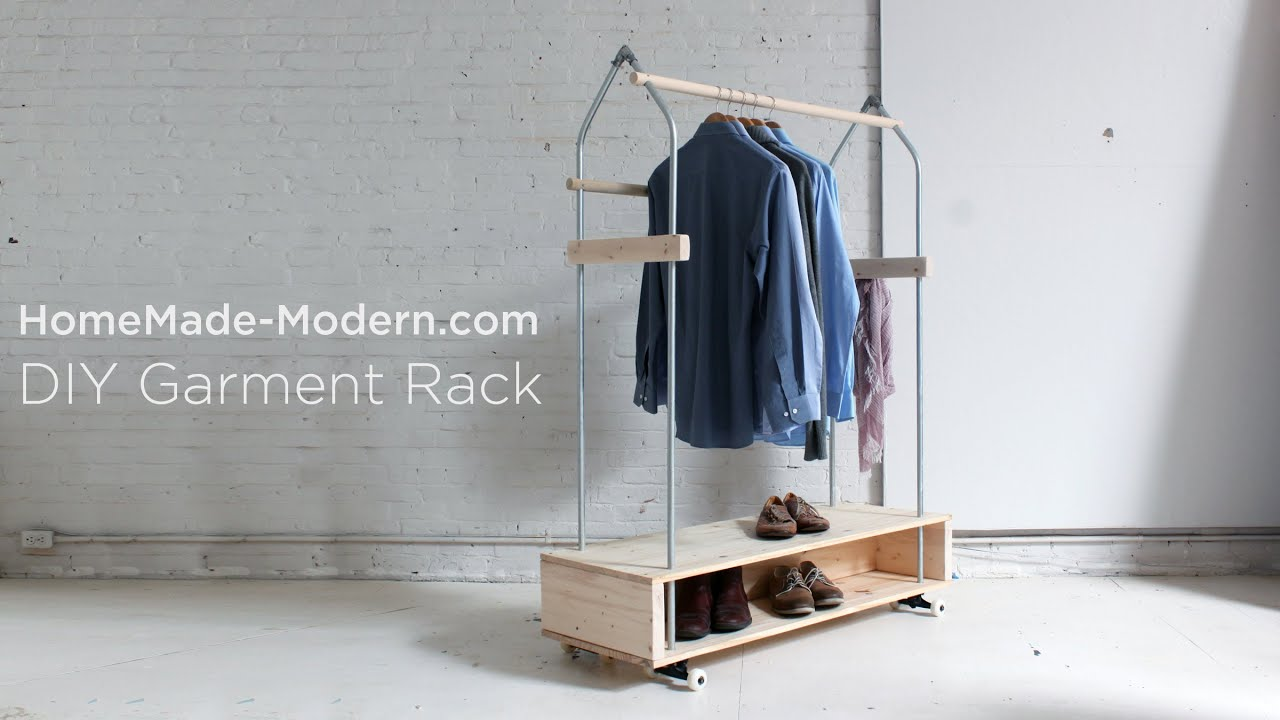 Design Diy Clothes Rack diy garment rack ep31 youtube