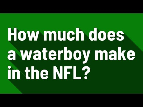 How Much Does A Waterboy Make In The NFL?