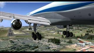 landing on lebb bilbao sondica spain qw 757