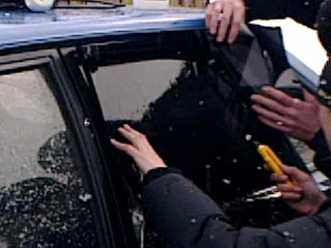 Как затонировать авто своими руками видео