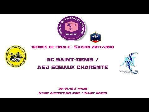 CDF - 2017/2018 - 16èmes - RC Saint-Denis / ASJ Soyaux - 28-01-18 - Le Live