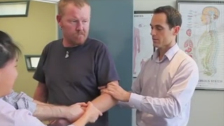 Dr Ian - DISLOCATED ELBOW Adjustment - FIXED by Gonstead Chiropractic