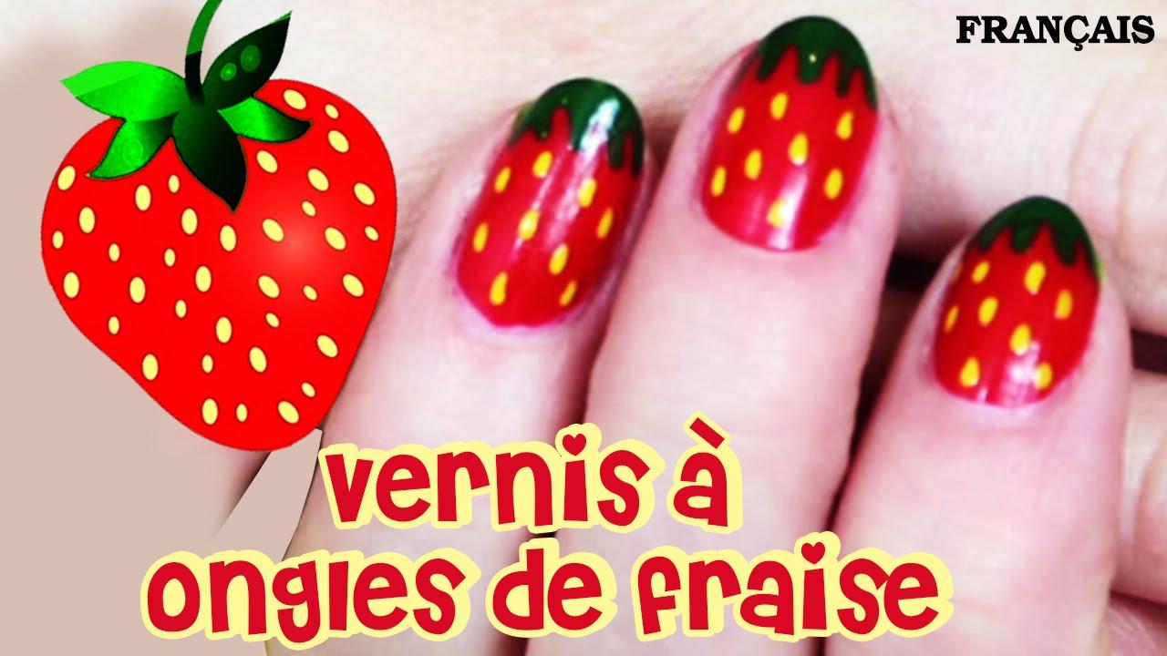 Célèbre Facile DIY Français: Vernis à Ongles de Fraise | Strawberry Nail  OU13