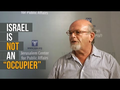 "International Law Expert: Israel Is Not an ""Occupier"""