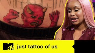 A baby devil tattooed on the belly | Just Tattoo Of Us USA