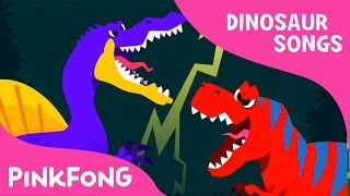 connectYoutube - Spinosaurus VS Tyrannosaurus | Dinosaur Songs | Pinkfong Songs for Children