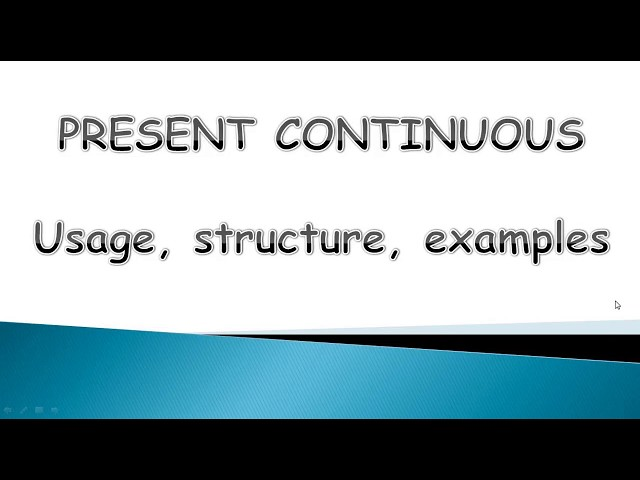 3 must Know Rules about Present Continuous Tense