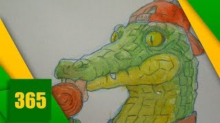 HOW TO DRAW A CROCODILE WITH WATER COLLECTION