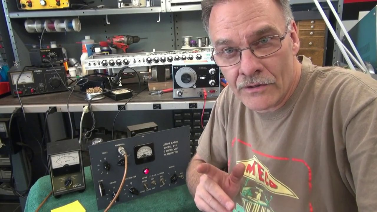 How to repair Vintage Lettine 242 6 meter AM Ham Transmitter by D-lab