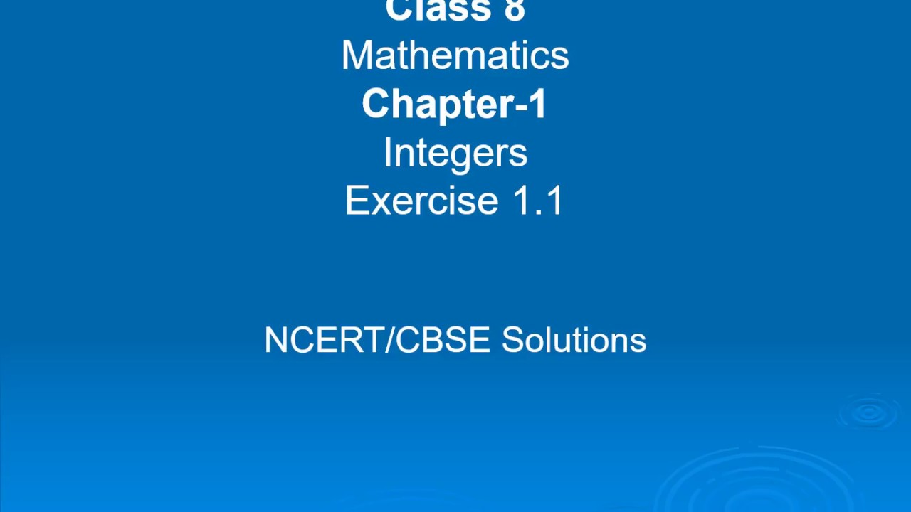 Class 8-Maths | Chapter 1-Integers | Excercise 1.1 (Sums 6-10 ...