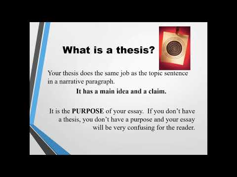 Writing a thesis statement for an expository essay