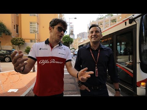 Charles Leclerc's Walk to Work | 2018 Monaco Grand Prix