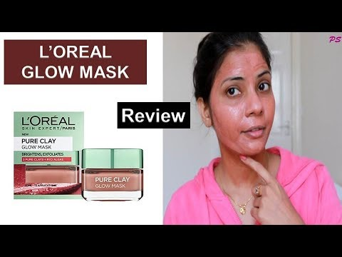 L'oreal Paris Pure Clay Glow Mask Review 2019 | Best Glowing Mask | Review & Demo