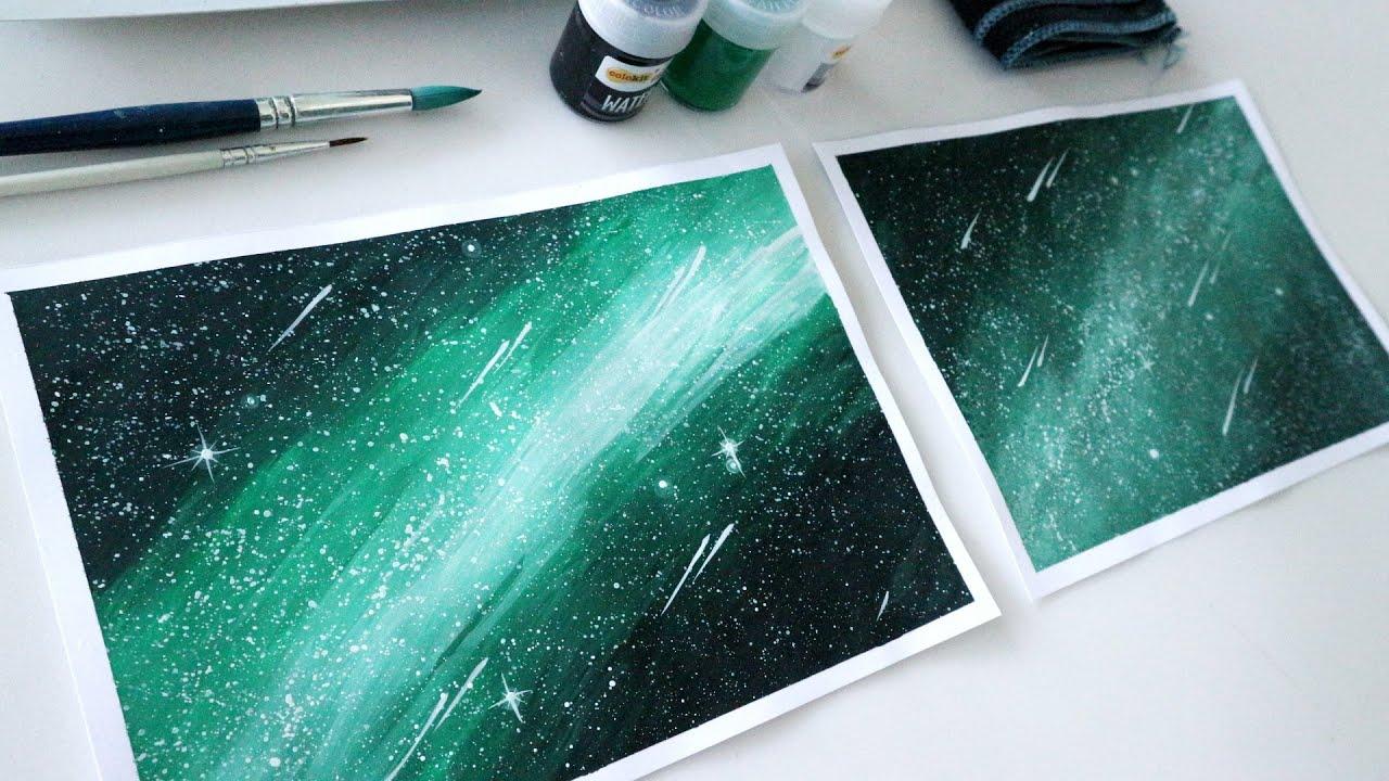 ART#24 | Màu nước Colokit – Vẽ tranh galaxy | Watercolor Tutorial | Galaxy