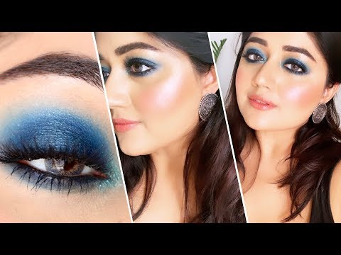 HUDA Beauty Sapphire Obsessions Palette  TUTORIAL  corallista