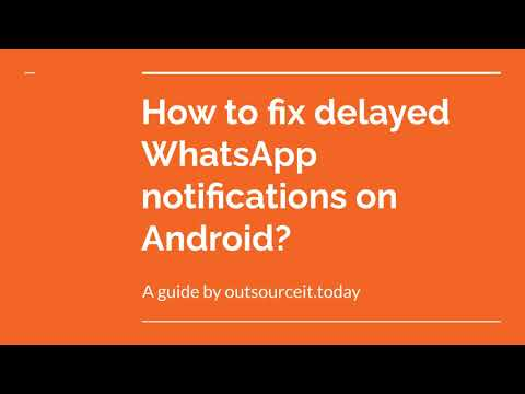 How to fix Whatsapp message delayed delivery