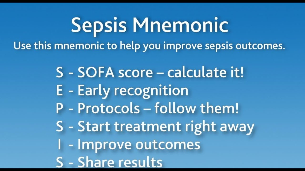 Sepsis Mnemonic Recognize Early Act Fast Sepsis Mnemonics Emergency Medical