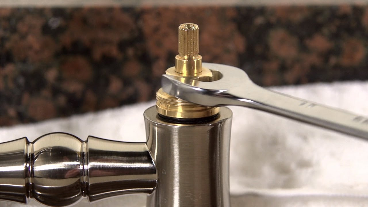 How to clean a kitchen faucet cartridge youtube - Delta bathroom sink faucet installation ...
