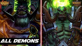 Warcraft 3 Reforged - All Demons Comparison - Original vs Reforged