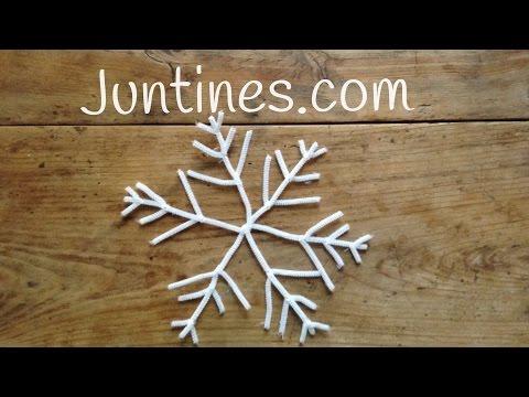 Adornos navideños con limpiapipas, aprende a hacer sencillos copos de nieve