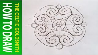 How To Draw Celtic Patterns 96 - Spiral Celtic Cross/mandala 4of8