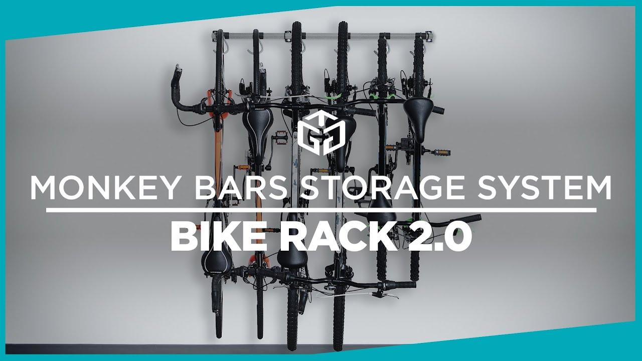 monkey bars bike rack 2 0