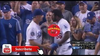 Pelea de Yasiel Puig VS Nick Hundley (Gigantes de San francisco Vs Dodgers) MLB