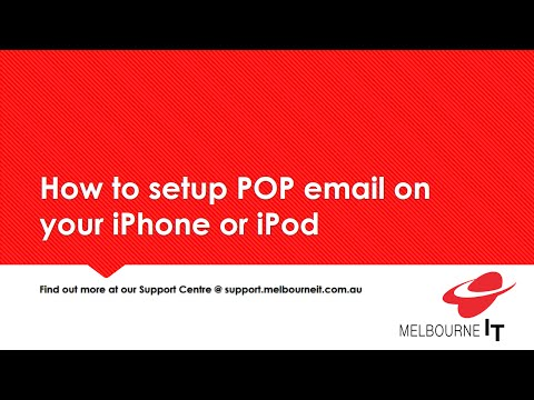 How to setup POP email on your iPhone or iPod