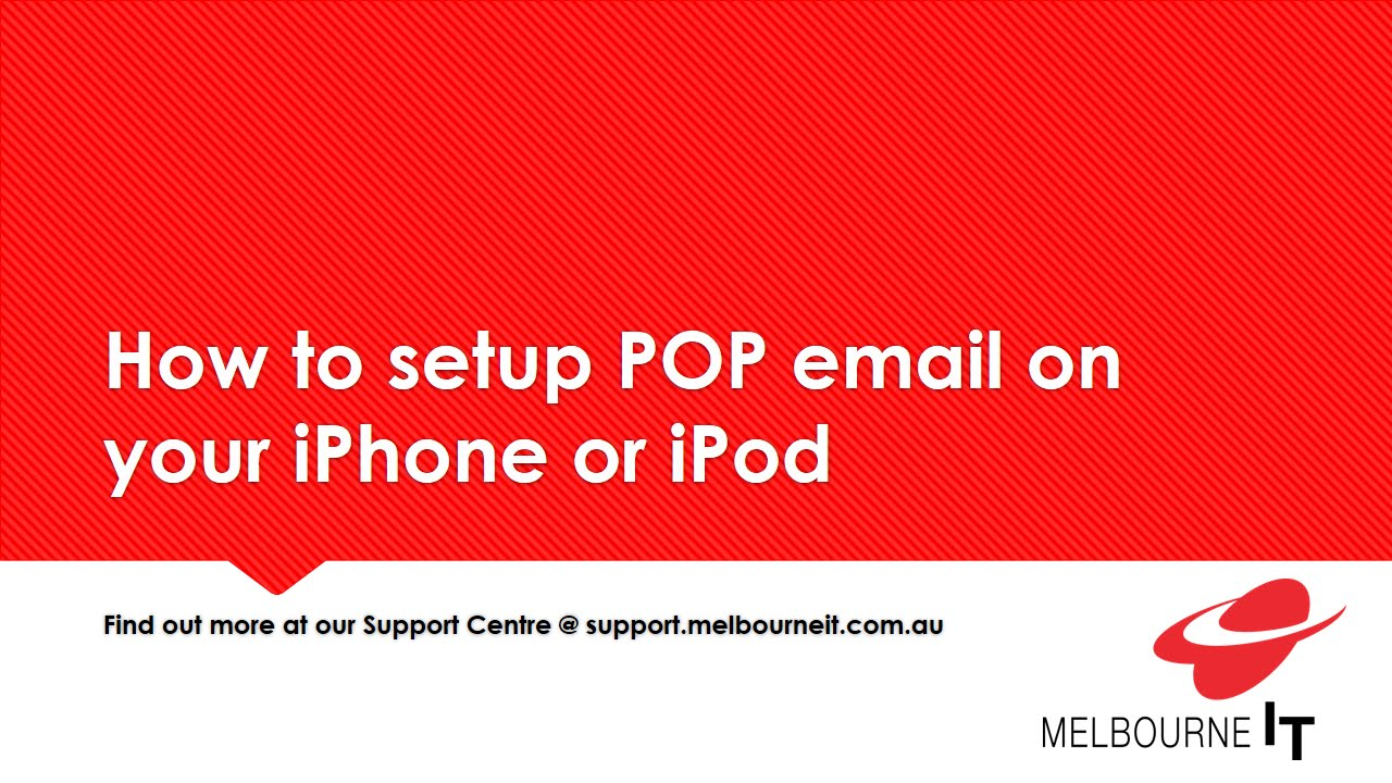 how to setup email on iphone how to setup pop email on your iphone or ipod 19092