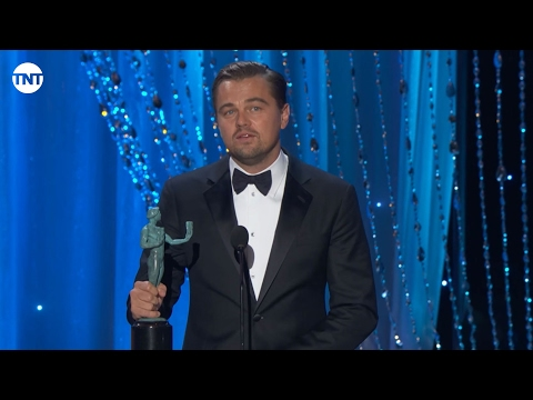 Leonardo DiCaprio I SAG Awards Acceptance Speech 2016 I TNT