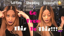 Fix lifting closure w/ Got2b Glued, Fix overbleached/shedding areas (No box dye/mascara!!!)