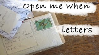 Diy Gift  Open Me When Letters