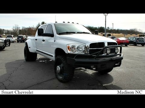 2007 Dodge Ram 3500 Manual 6 Speed Cummins Diesel Lifted ...