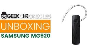 Unboxing și recenzie casca bluetooth Samsung MG920