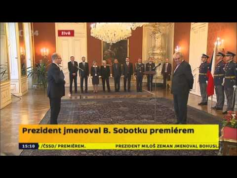 Předseda ČSSD Bohuslav Sobotka jmenován premiérem - 17.1.2014