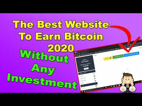 Best Website To Earn Bitcoin Fast 2020 - Earn BTC Without Any Investment