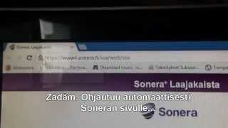 Sonera Network Problem